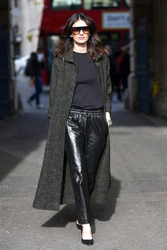 Street Style: What To Pair With Leather Jogger Pants