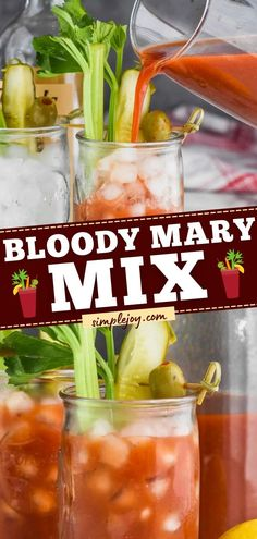 The BEST Bloody Mary Mix is what you need for an easy 4th of July drink! Homemade with a few ingredients, this summer recipe makes a big pitcher for everyone to enjoy. The perfect cocktail idea for… Brunch Drinks, Fun Cocktails, Summer Drinks, Cold Drinks, Best Cocktail Recipes, Sangria Recipes, Drink Recipes, Summer Recipes, Easy Recipes