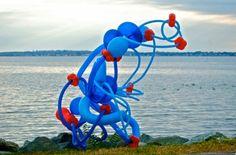 Float, Balloon Sculptures by Janice Lee Kelly Lee Kelly, Janice Lee, Floating Balloons, Sculptures, Activities, Outdoor Decor, Art, Art Background, Kunst