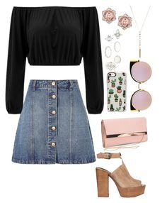 """""""Weekend date"""" by paytton-white on Polyvore featuring Anita & Green, Rebecca Minkoff, New Look, Casetify, Fendi and Charlotte Russe"""