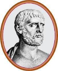 THALES DE MILETO (585 a.C.): Considerado uno de los siete sabios de Grecia. La explicación universal y racional que sostuvo Tales fue que el agua es origen de todas las cosas que existen, el elemento primero.