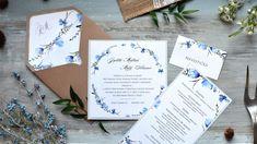 S Veľkou nocou prichádza konečne jar! 💙🏵🌿 Toto krásne kvetinové oznámenie patrí do našej novej kolekcie 2018 a to rovno s celým setom! Jemný motív jarných kvetov dopĺňa šedá farba písma, ktorá ladí s podkladovým sivým papierom. 😊 #svadobneoznamenia #svadba #zasnuby Wedding Invitation Cards, Place Cards, Place Card Holders, Vintage, Paper Mill, Handmade Envelopes, Invitation Text, Natural Colors, Card Wedding