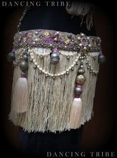 Tribal Fusion Belt with Fringe and Tassels Tribal by DancingTribe