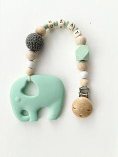 Pflege Nett Beisskette Zahnungshilfe Teether Baby Neu Mit Silikon Donut Blau Grau Einfach Zu Verwenden