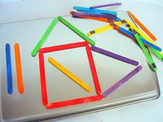 Magnetic Colored Popsicle / Craft Sticks