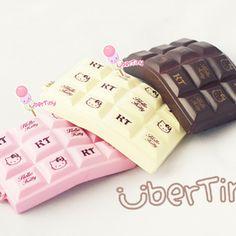 Hello Kitty crackling Chocolate bar squishies.