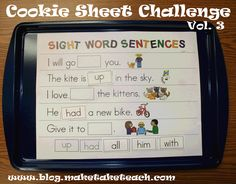 Sight Word Sentences with printable