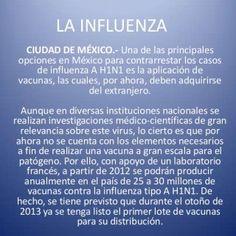 LA INFLUENZA CIUDAD DE MÉXICO.- Una de las principales opciones en México para contrarrestar los casos de influenza A H1N1 es la aplicación de vacunas, las. http://slidehot.com/resources/la-influenza-cristian-francisco-daniel-y-nancy.27001/