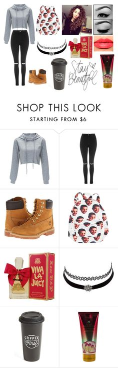 """""""Untitled #1065"""" by jonas-bros02 on Polyvore featuring Topshop, Timberland, Christian Dior, Juicy Couture, Charlotte Russe, The Created Co. and Victoria's Secret"""