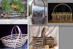 TWIG BASKET ideas to send to Matt Shaul to make five flower girl baskets