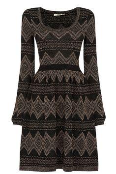 Aztec Sparkle Babydoll Dress