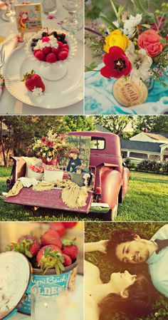 ideas pickup truck picnic themed parties for 2019 Cute Wedding Dress, Fall Wedding Dresses, Colored Wedding Dresses, Perfect Wedding, Wedding Events, Our Wedding, Dream Wedding, Hobbit Wedding, Wedding Dreams