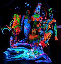 UV collaboration Uv Photography, Neon Party, Ultra Violet, The Darkest, Body Art, Photos, Painting Art, Collaboration, Inspiration