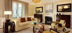 The Dorchester, London, UK. Art Deco Hotel, The Dorchester, Leading Hotels, Interiores Design, Hospitality, Small Spaces, Couch, Curtains, Living Room