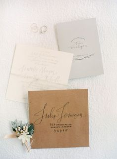 love this calligraphy and paper choices
