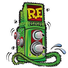 Rat Fink TLR Camera illustration- LOVE!!