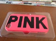 Victoria's Secret PINK Iphone Cell phone Case Cover Soft Lime Green NEW 4/4S