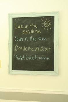 Live in the sunshine. Swim the sea. Drink the wild air. -Ralph Waldo Emerson #quote