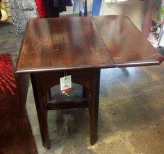 Drop Leaf End Table, $59