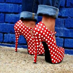 Red and polka dot heels!!!
