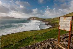 Couminole Beach, the Atlantic Ocean and Blasket Islands in County Kerry, Ireland Atlantic Ocean, Islands, Mountains, Natural, Beach, Water, Travel, Outdoor, Gripe Water