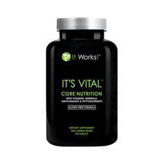 It`s Vital™ Core Nutrition | It Works - Get the core nutrients you need right when your body needs them with the cutting edge ingredients of It's Vital Core Nutrition Formula. This plant-based, whole-food multivitamin supplies the essential antioxidants, phytonutrients, and vitamins you need throughout the day with controlled-release technology, giving you sustained nourishment for up to 12 hours. It's core nutrition for your best health!