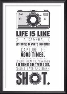Camera Quote Print, Camera Poster, Camera Art, Camera Gift, Camera Print, Camera Illustration, Quote, Camera Decor, Retro, Hipster, Cool - Ideate Create Studio