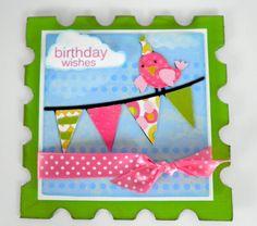 Birthday Bash Bird on A Wire card