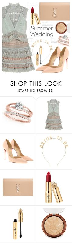 """""""Bride To Be"""" by fattie-zara ❤ liked on Polyvore featuring Christian Louboutin, Forever 21, Yves Saint Laurent and summerwedding"""