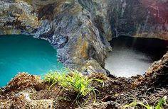 Tri-coloured lakes at Mt Kelimutu, Flores