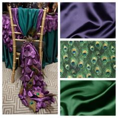 T...rriffic Table Linens can help you achieve this look for your #peacock themed #wedding! www.trriffic.com (614) 299-3693.