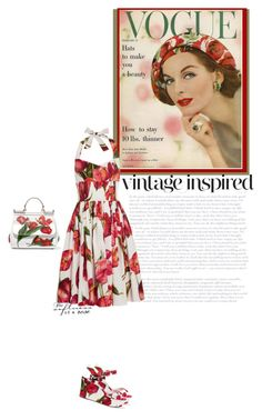 """Inspired by vintage fashion"" by fashion-and-beauty-miracles ❤ liked on Polyvore featuring Dolce&Gabbana and vintage"