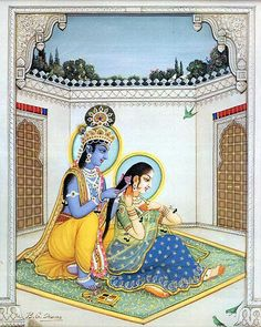 Krsna attracts everyone, but devotional service attracts Krsna. The symbol of devotional service in the highest degree is Radharani. NECTAR OF DEVOTION, p. Señor Krishna, Krishna Leela, Lord Krishna, Pichwai Paintings, Mughal Paintings, Indian Paintings, Rajasthani Painting, Rajasthani Art, Indian Gods