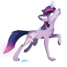 magic+Wolf+Drawings | wolf twilight sparkle by affanita digital art drawings paintings ...