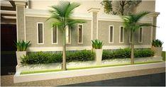Simple Minimalist Yet Charming House Fence Design Ideas - CasaNesia Compound Wall Gate Design, Front Wall Design, House Fence Design, Exterior Wall Design, Modern Fence Design, House Outside Design, Exterior House Colors, Boundry Wall, Tor Design