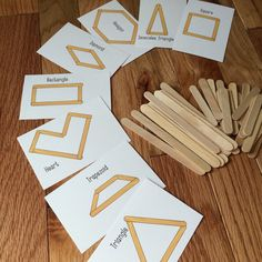 Building Shapes - Popsicle Sticks Busy Bag - Preschool, Toddler Busy Bag Game