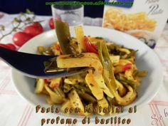 Pasta fatta in casa con fagiolini al profumo di basilico #senzaglutine e #vegan con mix Alimenta 2000 http://senzaebuono.altervista.org/pasta-con-fagiolini-basilico/