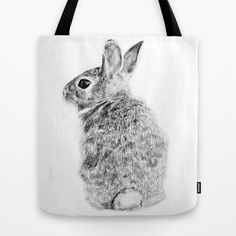 BUY: http://society6.com/product/rabbit-1bg_bag?curator=4thecrime