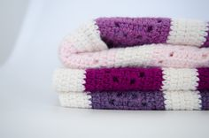 DIY Modern, Crochet, Colorblocked Granny Square Baby Blanket | Via Live Modernly