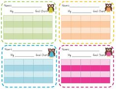 Use these cute owl incentive charts for any goal setting display in your classroom.  They would be great for weekly behavior goals, Accelerated Mat...