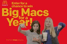 Enter for a chance to enjoy free treat of Big Macs for a year! #Sweepstakes #BigMacs #Win