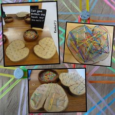 """DIY geoboards made a couple of years ago from - Rachel ("""",)"""