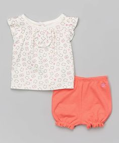 Another great find on #zulily! Sherbet Pink Horseshoe Top & Bloomers - Infant #zulilyfinds