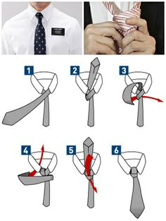 Good to know -  How to tie a half windsor knot tie step by step DIY instructions, How to, how to make, step by step, picture tutorials, diy instructions, craft, do it yourself