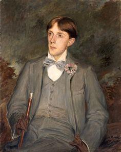 Жак-Эмиль Бланш. Портрет Обри Бердслея, 1895 ~ Aubrey Beardsley by Jacques-Émile Blanche, 1895