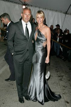 Kevin Costner and Christine Baumgartner The 2005 Costume Institute Gala Celebrating CHANEL, at The Metropolitan Museum of Art, New York City. May 2, 2005.  John Spellman / Retna Ltd.