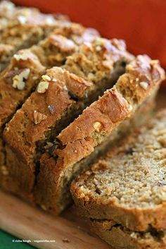 One Bowl Vegan Banana Apple Bread | http://veganricha.com #vegan #banana