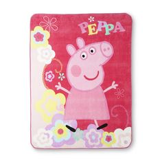 Nickelodeon Peppa Pig Girl's Micro Raschel Throw