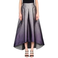 Jijil 3/4 Length Skirt (2 885 UAH) ❤ liked on Polyvore featuring skirts, grey, floral skirts, floral printed skirt, floral print skirt, floral flare skirt and flared skirts