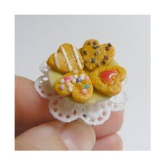 Scented Mixed Cookies Miniature Food Ring - Miniature Food Jewelry ($18) ❤ liked on Polyvore